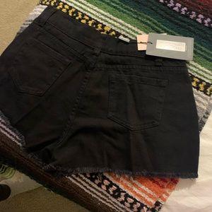 PrettyLittleThing Shorts - High Waisted Black Shorts